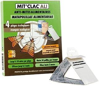 MIT'CLAC - trampa de polilla de alimentos, juego de 4, acción rápida, ideal para cocina o almac...