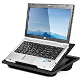 Halter Portable Lap Desk, Versatile Laptop Stand with 8 Adjustable Angles, Built-in Handles, and Dual Microbead Bolster Cushions for Added Height and Comfort; Ideal for Laptops, Notebooks, Tablets, Bo