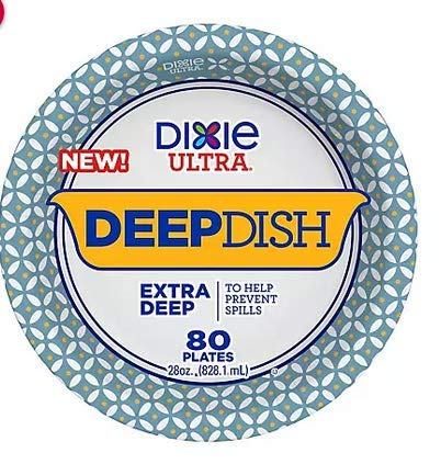 Dixie Ultra Deep Dish Paper Plate, 80 ct.