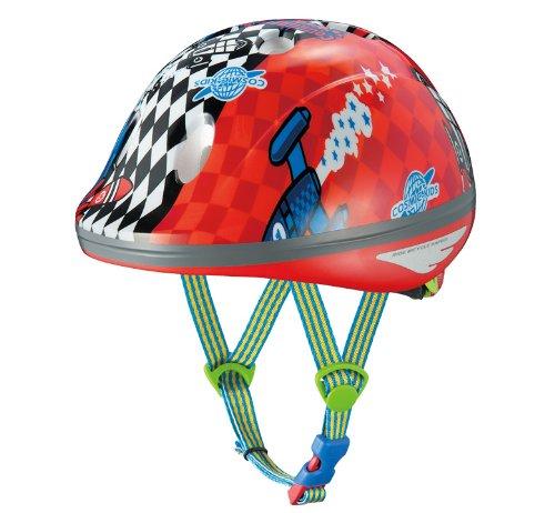 オージーケーカブト(OGK KABUTO) 自転車 ヘルメット 子ども用 PEACH KIDS (ピーチキッズ) ロケットレッド 幼児用(頭囲 47~51cm)