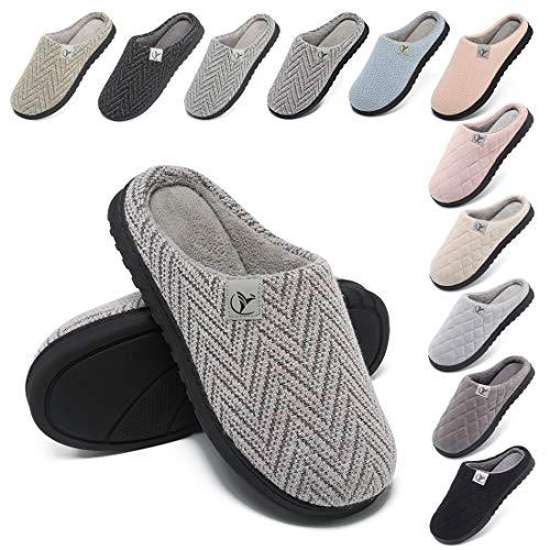 incarpo Zapatillas Casa Mujer Lana de Coral Zapatillas de Estar por Casa Antideslizante Pantuflas de Interior y Exterior Cálido y Confortable
