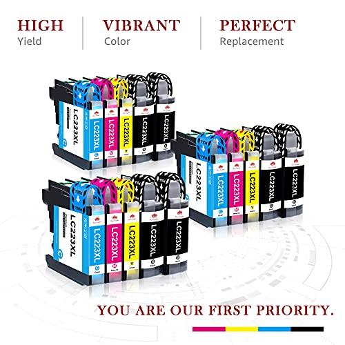 Toner Kingdom LC223 LC223XL Cartuchos de Tinta Compatibles de Reemplazo para Brother DCP-J4120DW DCP-J562DW MFC-J5625DW J4625DW J5320DW J5720DW J880DW J5620DW J680DW J4420DW J4620DW J480DW (15 Pack)