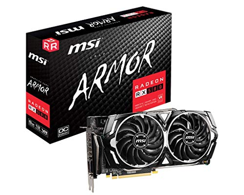 MSI Gaming Radeon Rx 580 256-bit 8GB GDRR5 HDMI/DP DirectX 12 VR Ready Dual Fan Crossfire Freesync Grafikkarte (RX 580 Armor X)