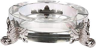JIAJBG Novedad cenicero cristal multifunción decoración personalidad creativa moda hogar fácil de limpiar/blanco