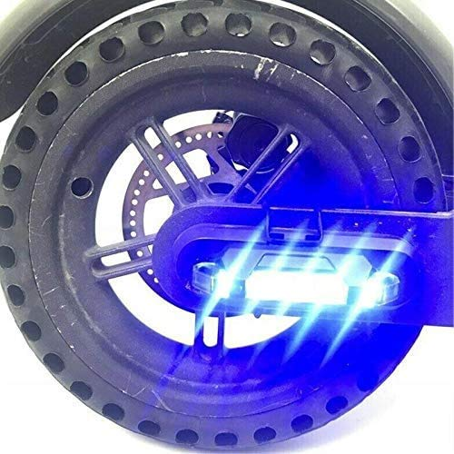 Linghuang Roller Advertencia LED tiras Flashlight Bar lámpara para Xiaomi Mijia M365 Elektroroller suspensión seguridad Dekoratives luz, azul