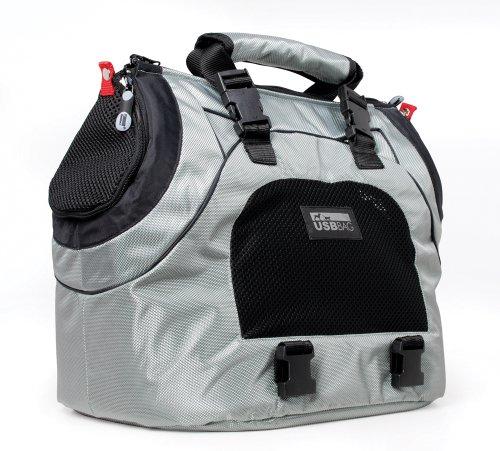 Petego USB Universal Sport Bag/Transporttasche für Hunde, silber/grau
