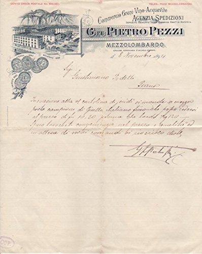 Commercio Grani - Vino - Acquavite: G. fu Pietro Pezzi: Mezzolombardo.