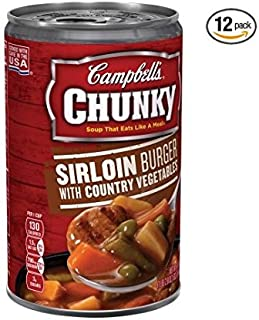 Campbell's Chunky Soup, Sirloin Burger with Country Vegetables, 18.8 Ounce (18.8 Ounce - 12's)
