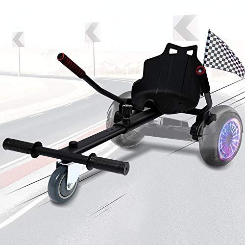 wolketon Hoverboard Sitz, Hoverboard Kart Aufsatz, Selbstausgleichender Roller Kompatibel von 6,5