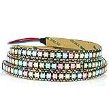 WS2812B - Tira LED RGB (144 píxeles/m, flexible, PCB, tira de color negro, IP65, impermeable, 5 V)