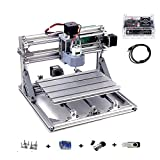 3 Axis DIY Mini 2418 Desktop Small CNC Router Kit Engraver Engraving Milling Pcb Pvc Wood Cutting Carving Machine GRBL Control (24x18x4.0cm)
