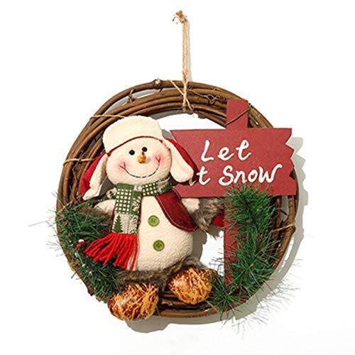euch 2020 julkrans rotting ring hängande juldekoration dörr hängande dekoration kreativ varm hängande juldekorationer julgran säljs efter varandra