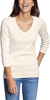 Women's Favorite Long-Sleeve V-Neck T-Shirt, HTR Oatmeal Regular M R