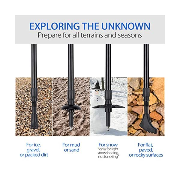 IREGRO Bastones de Trekking 2pcs Bastones Senderismo Piezas de Aluminio 6061Duradero con Asas de Corcho Natural… 1