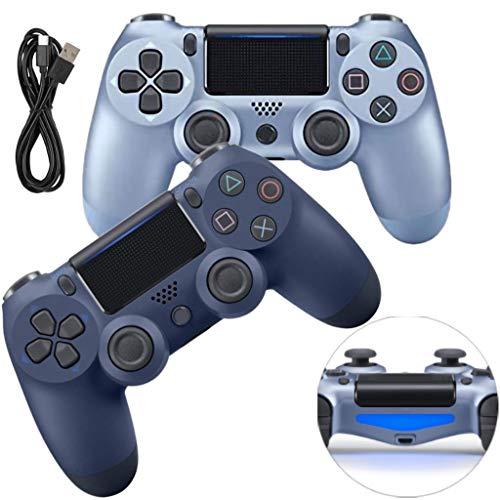 LPWCAWL PS4 Manette Dualshock, Manette De Jeu Rechargeable, Manette De Jeu sans Fil avec Fonction Audio et Fonction De Retour De Vibration, Barre Lumineuse LED, Convient pour PS4/Pro/Slim,F