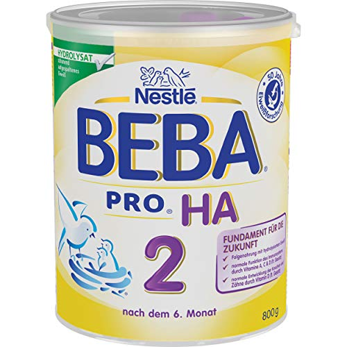 Nestlé BEBA Pro HA 2 12332784 - Leche para bebés, alimento para HA, 800 g
