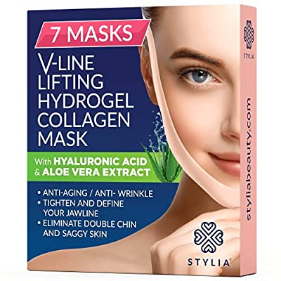 7-piece Stylia V Rows Shaping Face Masks-Double Chin Reducer
