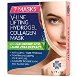 7 Piece V Line Shaping Face Masks – Lifting Hydrogel...