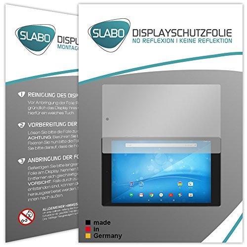 Slabo 2 x Bildschirmschutzfolie für TrekStor SurfTab Breeze 9.6 Quad Bildschirmschutz Schutzfolie Folie No Reflexion | Keine Reflektion MATT