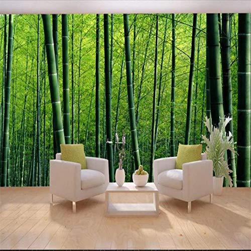Wand DekorationBenutzerdefinierte 3D Fototapete Wandbild Wohnzimmer Sofa TV Hintergrund Tapeten Bambus Forst landschaft 3d Bild Tapete Wohnkultur Poster 1 ㎡ (1 Quadratmeter)