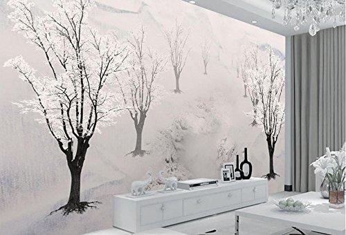 Papel pintado fotográfico 3D para pared con diseño de ciruelas en 3D para dormitorio o salón, moderno papel pintado fotográfico en 3D, 250 x 175 cm