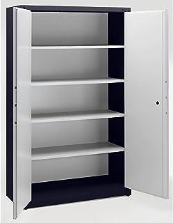 CP Armoire de sécurité - 4 tablettes réglables, largeur 1200 mm - gris noir / gris clair - Armoire Armoire coffre-fort Arm...