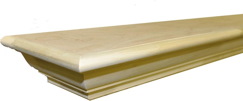 Frederick 6' Mantel Shelf - Unfinished Poplar