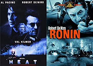 Bobby DeNiro International Espionage + Shoot Outs in the Streets: Heat & Ronin 2 DVD Bundle