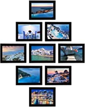 Moms'creations Collage Individual Photo Frames, Set of 9,Wall Hanging (9pcs - 4x6 inch, Black Frames)