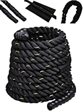 Comie Poly Dacron 30ft/40ft/50ft Length Battle Rope Exercise Workout Strength Training Undulation (1.5