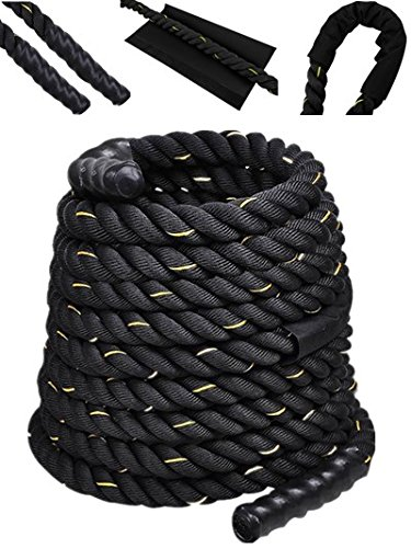 Comie Poly Dacron 30ft/40ft/50ft Length Battle Rope Exercise Workout Strength Training Undulation (2' 50ft)