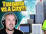 Clip: Tsunami vs. Minecraft City Challenge with Tiny Turtle