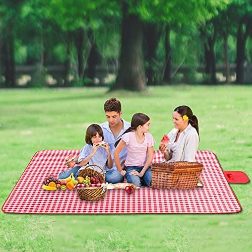 Coperta da picnic, impermeabile, 200 x 200 cm, coperta da campeggio, lavabile, per attività all'aperto, spiaggia, picnic, picnic, campeggio, spiaggia, viaggi