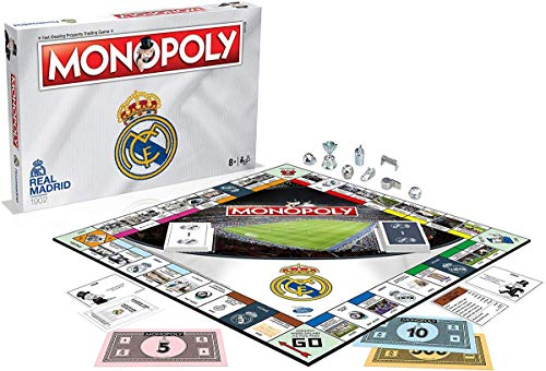 Winning Moves Juego de mesa Monopoly del Real Madrid , color/modelo surtido