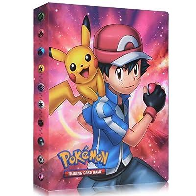 Funmo Pokemon Cartas Álbum, Álbum de Pokémon Álbum Titular de Tarjetas Pokémon, Álbum de Entrenador de Cartas Pokémon Protección, 30 páginas 240 Tarjetas Dobles (Red Xiaozhi) por Funmo