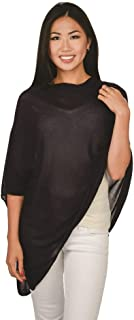 Solid Knit Asymmetric Wrap Fashion Bamboo Poncho Topper
