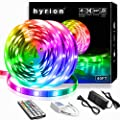 ?Upgraded 2020?hyrion LED Lights 40ft, LED Strip Lights with 44 Key IR Remote Extra Adhesive 3M Tape - Professional Color Changing 5050 LED Rope Lights for Bedroom, TV, Kitchen, Under Bed Lighting