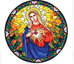 Immaculate Heart of Mary Stained Glass Window Decal