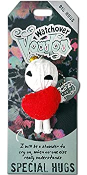Watchover Voodoo - String Voodoo Doll Keychain – Novelty Voodoo Doll for Bag Luggage or Car Mirror - Special Hugs Voodoo Keychain 5 inches