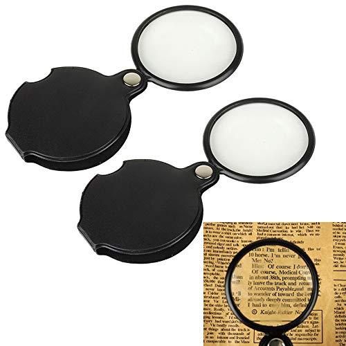 Yyuezhi 5X vervormingsvrije leesloep 5x lees vergrootglas leesloep met verlichting voor senioren lezen inspectie solderen handwerk reparatie & hobby munten & sieraden 2 stuks