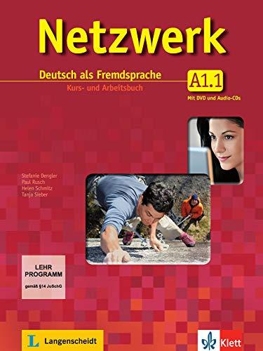 Netzwerk a1, libro del alumno y libro de ejercicios, parte 1 + cd + dvd: Kurs- und Arbeitsbuch A1 - Teil 1 mit 2 Audio-CDs und