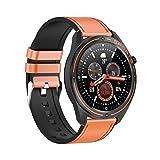 Reching Smartwatch, Fitness Armband Tracker Voller Touch Screen Uhr Wasserdicht IP68 Smart Watch mit Schrittzähler Pulsmesser Stoppuhr Sportuhr Bluetooth für iOS Android Damen Herren (Orange)
