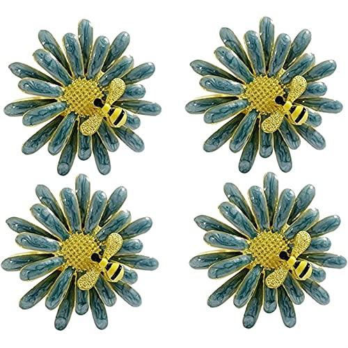 Servilleta Anillos Anillo de servilleta Conjunto de 4 piezas, exquisito y lindo titular de la servilleta de abeja linda Decoración de la mesa Servilletero (Color : As shown)