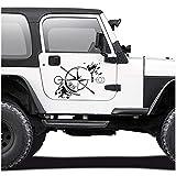 Autocollant pour voiture - Boussole Offroad - Rose des vents - Film autocollant pour voiture, moto, caravane,...
