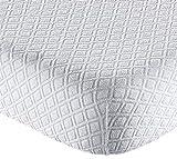 Cubrecolchón Sanity en jacquard de esponja con esquinas 180x200+25 cm de matrimonio.