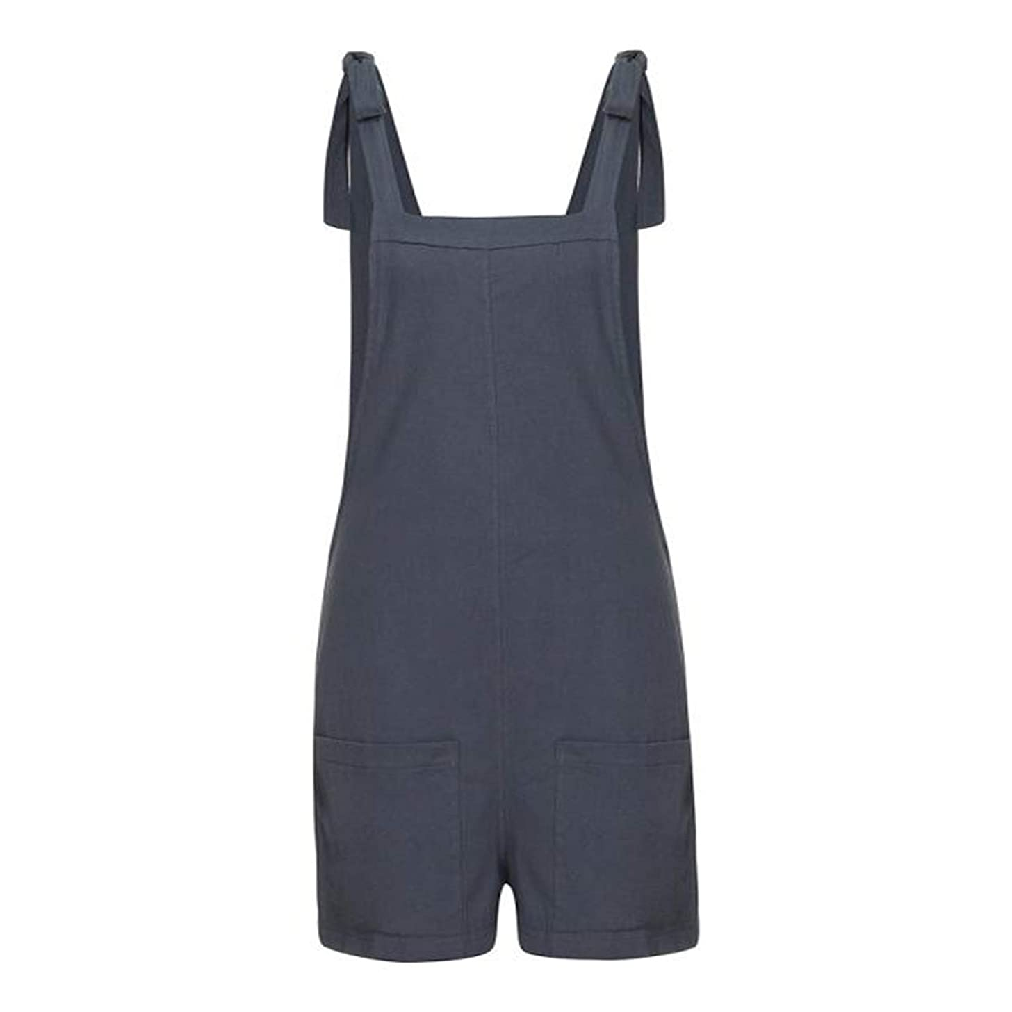 Thenxin Women's Overalls Tie Knot Straps Casual Jumpsuits Shorts Pants Romper with Pockets