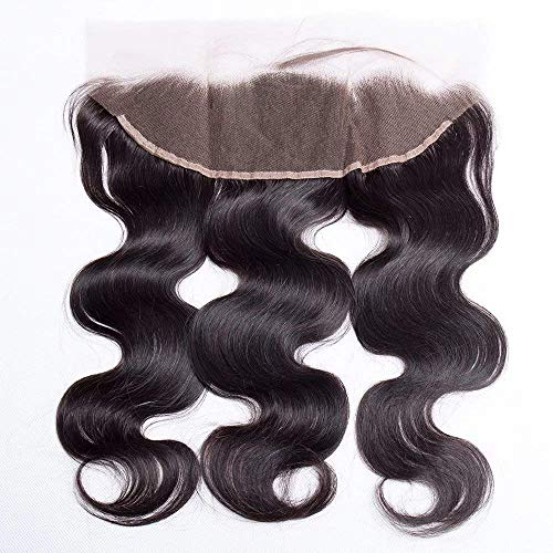 Maxine Pre-Plucked 13X4 Ear To Ear Lace Frontal Closure Body Wave with Baby Hair Brazilian 100% Unprocessed Human Hair 130% Density Natural Color 16 inch