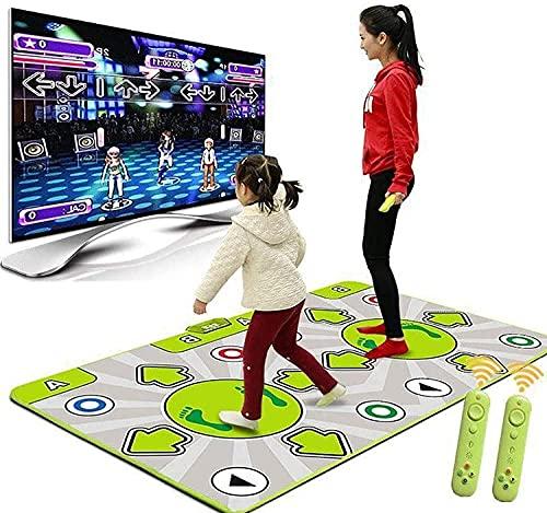 NKTJFUR Estera de Danza Plegable, Almohadilla de Danza Doble inalámbrica más Gruesa con Manual de televisión Manual de televisión Dual de Doble Uso 3D Asas de somatosensorios para Adultos/niños.