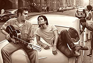 777 Tri-Seven Entertainment Michael Jackson Elvis Presley Poster Large Art Print (24x36), Multi-Color, 24x18