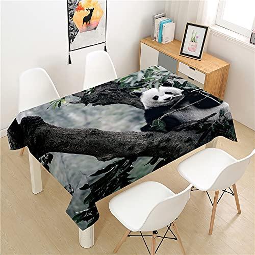 XXDD Mantel de Panda Pintado, Mantel de Picnic, Cubierta de Mesa Rectangular, Mantel de decoración de Mesa Lavable para el hogar, A8 140x200cm